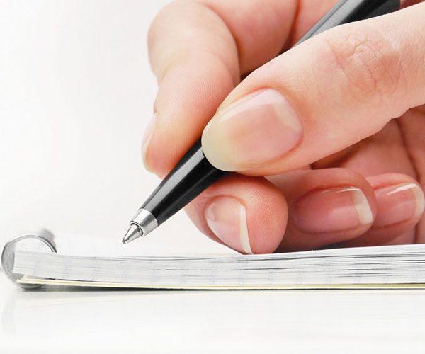 نوشتن در زبان انگلیسی